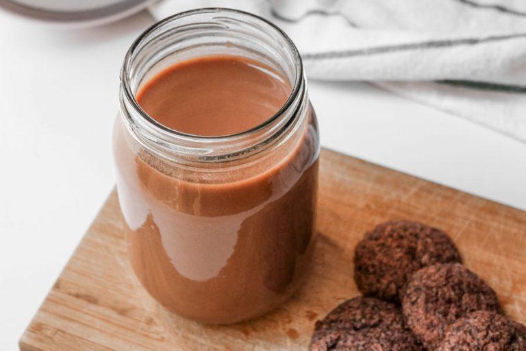 Leche de cacao con menta